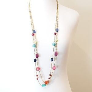 Chico's Jewelry - NWT! Chico's Sweater Necklace Double Strand